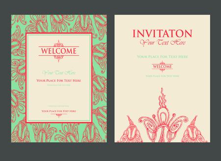 Invitation for celebration date Vector