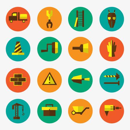 reamer: Construction icons set