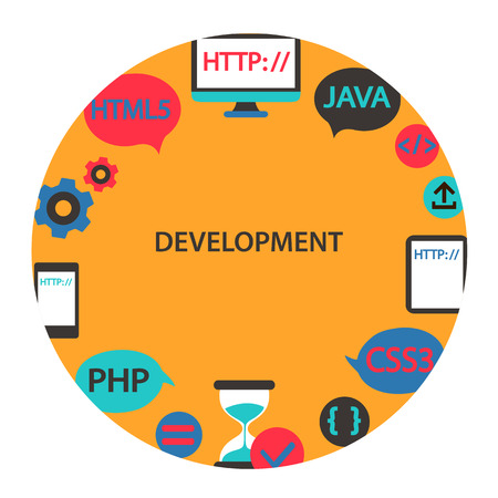 Development emblem. Vector