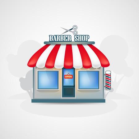 barber: Barber shop. Illustration