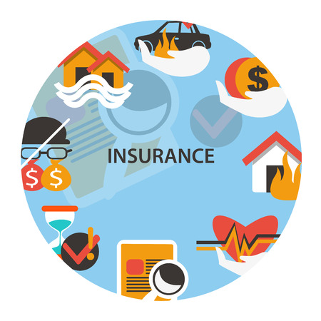 family policy: Insurance emblem.