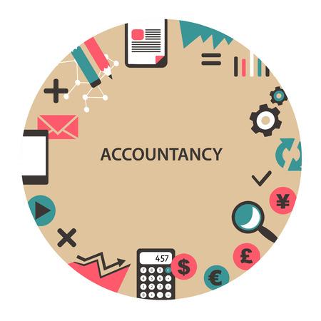 Accountancy emblem. Çizim