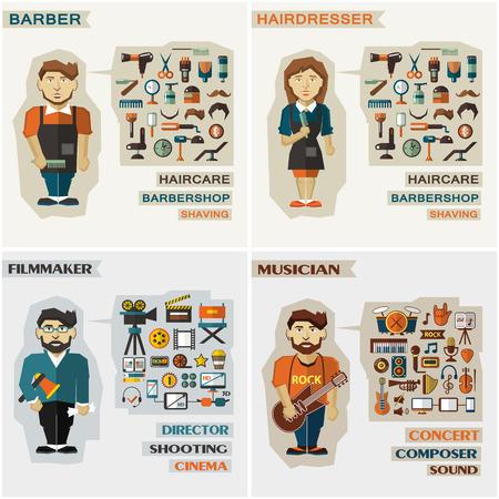 barbero: Conjunto de profesiones con equipos.