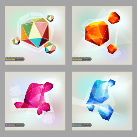 catalog background: Set of polygonal geometric figures  . Illustration