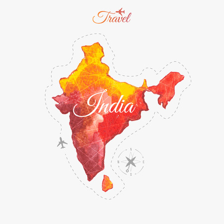 Travel around the  world to  India. Stok Fotoğraf - 40697421