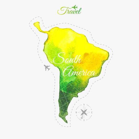 ecuador: Travel around the  world to South America. Illustration