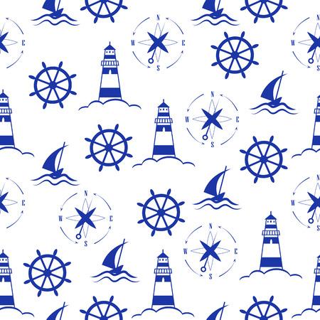 Set of sea and nautical  patterns