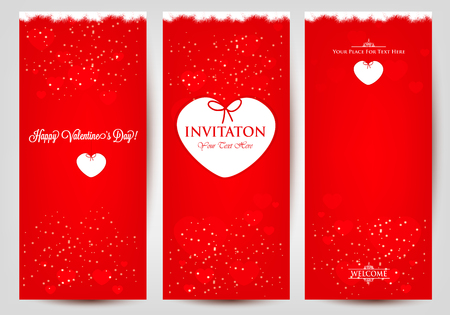 od: Set od greeting cards for Valentines Day card.
