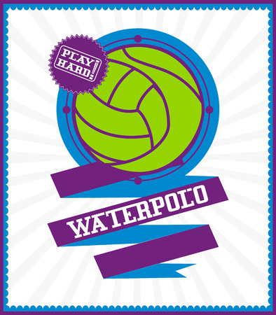waterpolo: Sports games. Sport icon. Colorful Waterpolo poster