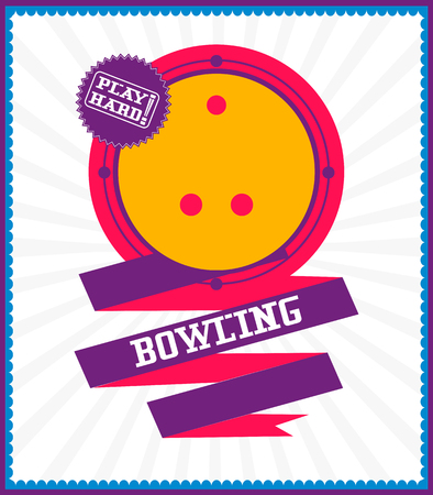 Sports games. Sport ball. Colorful Bowling poster