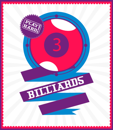Sports games. Sport ball. Colorful Billiards poster