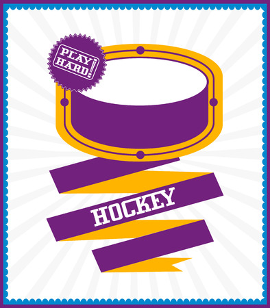 Sports games. Sport ball. Colorful Hockey poster