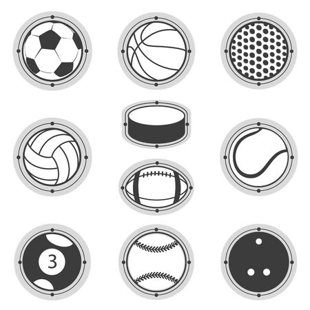 Sports Balls. Football, basketball, golf, volleyball, hockey american football tennis billiard baseball bowling