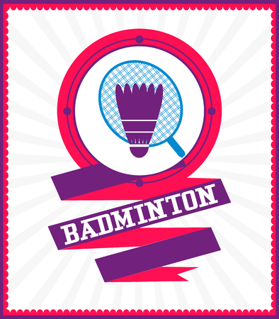 Sports games. Sport icon. Colorful Badminton poster