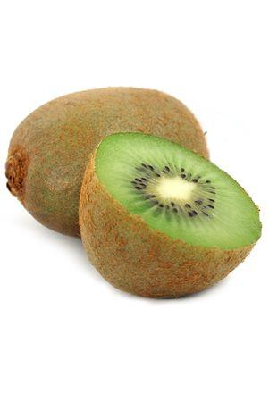 Isolated fresh kiwi fruit over white                    photo