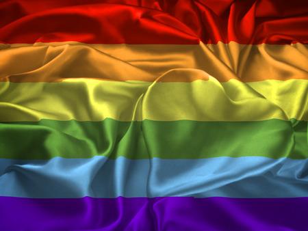 transexual: Versión muy grande de la bandera del orgullo gay