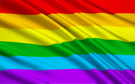 gay symbol: Large version of the gay pride flag