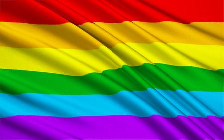 bandera gay: Versión grande de la bandera del orgullo gay Foto de archivo