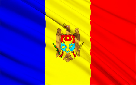 regional: The regional flag of the Moldovia or Moldavia - a former principality of southeast Europe. In 1861 Moldavia united with Wallachia to form Romania. Stock Photo