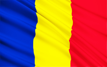 eastern european: The national flag of the eastern European country of Romania.