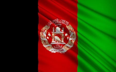 interim: Flag of Afghanistan - adopted by the Afghan Interim Administration on 22nd December 2001. Afghanistan has had more changes of its national flag during the 20th century than any other country in the world.