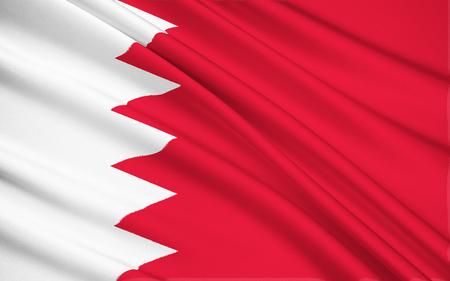 raise the white flag: The national flag of Bahrain consists of a white band on the left, separated from a red area on the right by five triangles that serve as a serrated line. The five triangles symbolises the 5 pillars of Islam. In 2002 the King of Bahrain, Hamad bin Isa Al