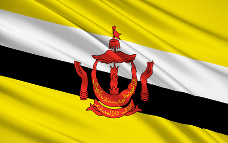became: The national flag of The Sultanate of Brunei, a small, oil-rich sultanate on the northwest coast of Borneo. It became a fully independent Commonwealth state in 1984.