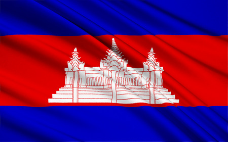 the monarchy: The national flag of Cambodia in its present form was originally adopted in 1948 and then readopted in 1993, after elections restored the monarchy. Since around 1850, the Cambodian flag has featured a depiction of Angkor Wat in the center.