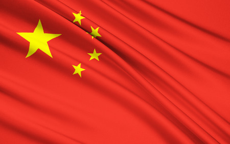 china flag: Flag of the Peoples Republic of China. The red represents the communist revolution; the five stars and their relationship represent the unity of the Chinese people under the leadership of the Communist Party of China.