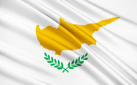 proclaimed: The national flag of Cyprus came into use on August 16 1960, when the constitution was drafted and Cyprus was proclaimed an independent state. Stock Photo
