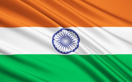 retained: La bandera nacional de la India fue adoptada en su forma actual durante una reunión de la Asamblea Constituyente celebrada el 22 de julio de 1947, cuando se convirtió en la bandera oficial del Dominio de la India. La bandera se mantuvo posteriormente como la de la República de la India.