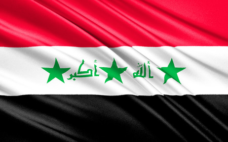 confirmed: The national flag of Iraq. On 22 January 2008, a new design for the flag was confirmed. The parliament intended that the new design last for one year, after which a final decision on the flag would be made. However, the flag was reviewed in parliament on  Stock Photo