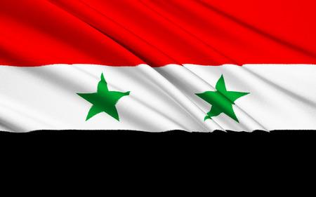 southwest asia: The flag of the Syrian Arab Republic Stock Photo