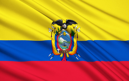 republic of ecuador: The national flag of Republic of Ecuador, Quito