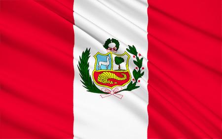 republic of peru: The national flag of Republic of Peru, Lima