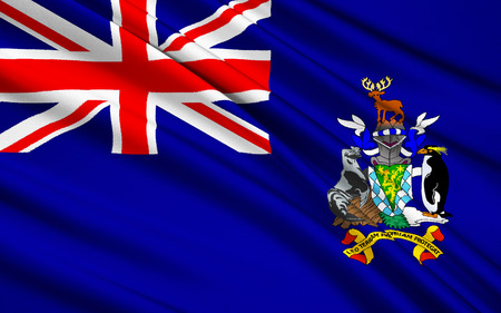 south georgia: The national flag of South Georgia and South Sandwich Islands, Grytviken - United Kingdom