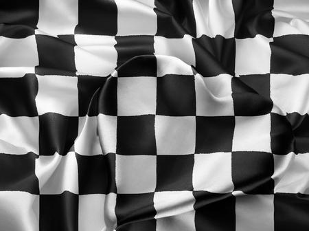 autosport: Balck and white checkered racing flag, Formula 1. I Love Formula 1