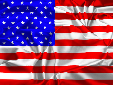 la union hace la fuerza: The national flag of USA and heart. I love of USA.