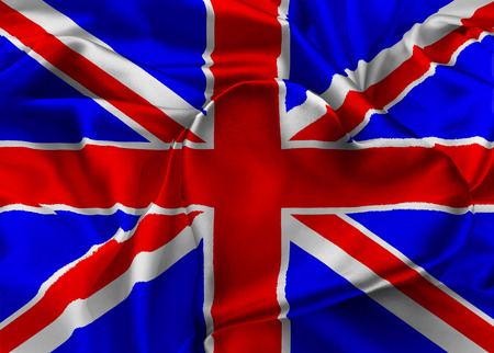 orientated: The national flag of United Kingdom. I Love Britain