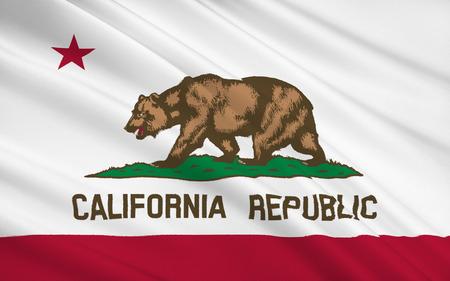 dorado: The national flag of the State of California, Sacramento - United States Stock Photo