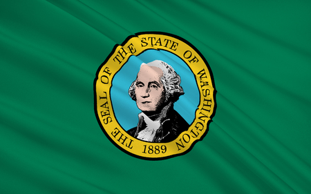 The national flag of Washington - the state in the northwest United States, 42th state in the Union. Capital - Olympia, the largest city - Seattle.