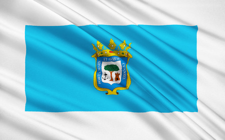 huelva: Flag of Huelva - city and municipality in Spain, the center of the province of Huelva, in the autonomous community of Andalusia. The municipality is a part of the district comarca Most Huelva.