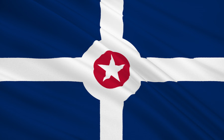 indianapolis: The national flag of Indianapolis - a city in the Midwest, the capital and most populous city in the state of Indiana