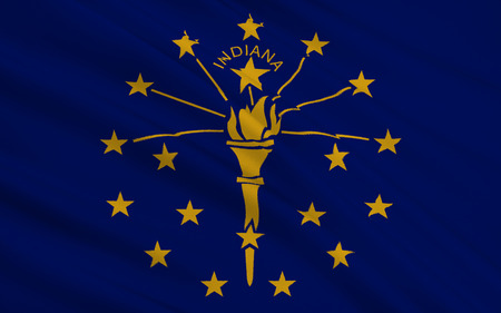 indianapolis: The national flag of the State of Indiana, Indianapolis - United States
