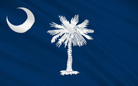 columbia: The national flag of the State of South Carolina, Columbia - United States Stock Photo