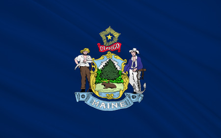 augusta: The national flag of the State of Maine, Augusta - United States Stock Photo