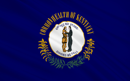 louisville: The national flag the State of Kentucky, Frankfort - United States