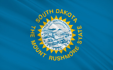 sioux: The national flag of the State of South Dakota, Pierre - United States Stock Photo