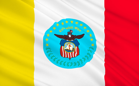 populous: The national flag of Columbus - the fifteenth most populous US city, the capital of the State of Ohio