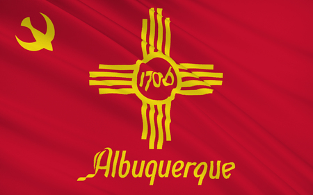 albuquerque: The national flag of Albuquerque - a city in the southwestern United States, the largest city in the state of New Mexico, the administrative center of the district Bernalilo
